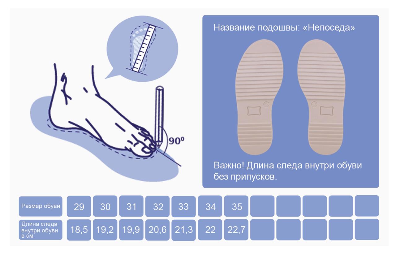 картинка по размеру обуви квартир